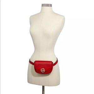 COACH Jade Mini Belt Bag Fanny Pack Leather Red